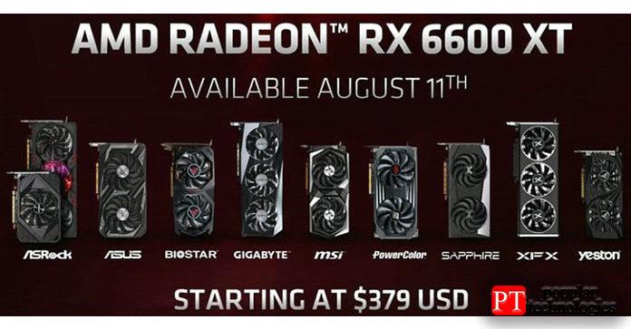 Какая Radeon RX6600XT AIB лучше
