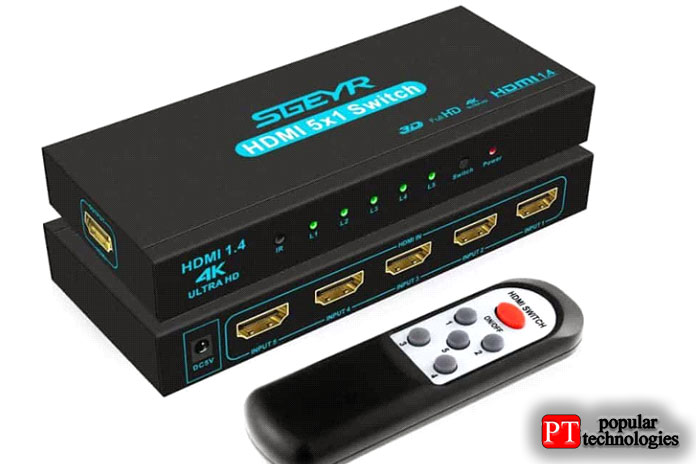 Коммутатор Techole HDMI 4K