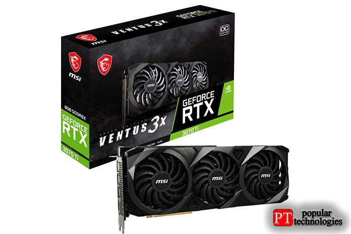 MSI Gaming GeForce RTX 3070 Ti Ventus 3X