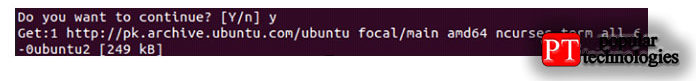 Между обработкой установки OpenSSH-сервера