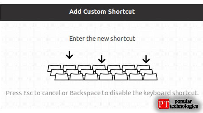 Нажмите Ctrl + Alt + Delete, чтобы определить новое сочетание клавиш