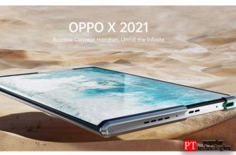 Oppo X 2021 первый телефон Oppo с возможностью прокрутки