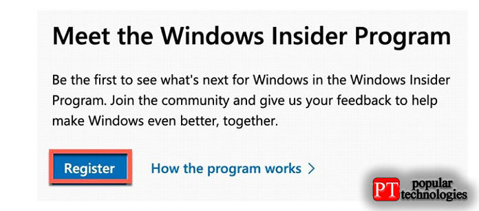 Прокрутите вниз допункта «Знакомство спрограммой предварительной оценки Windows»