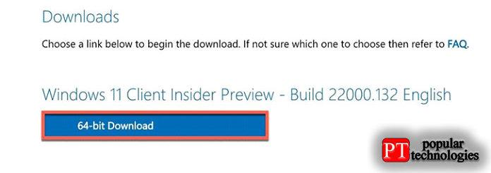 Снова нажмите «Подтвердить», затем выберите «64-битная загрузка»