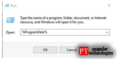 В строке поиска Windows введите