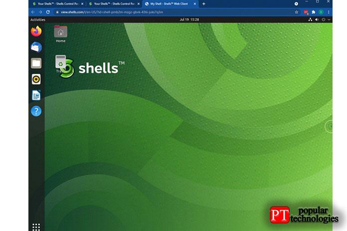 Вот скриншот оболочки, вкоторой увас работает Ubuntu ивы