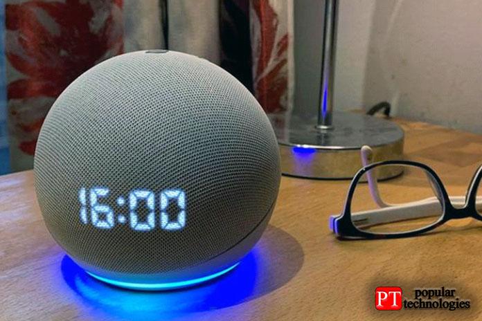 Amazon Echo Dot 4— Лучшее для прикроватных тумб