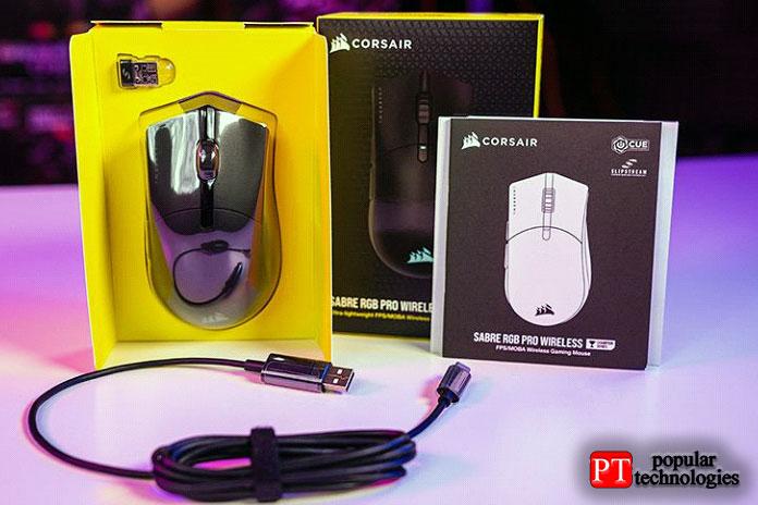 Беспроводная игровая мышь Corsair Sabre RGB Pro Wireless Champion Series