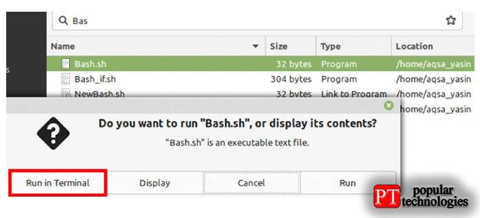 Для этого метода вам сначала нужно найти файл сценария Bash