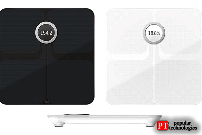 Fitbit Aria 2— работает стрекерами активности Fitbit