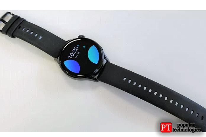 Huawei Watch 3 active edition поставляется с черным силиконовым ремешком