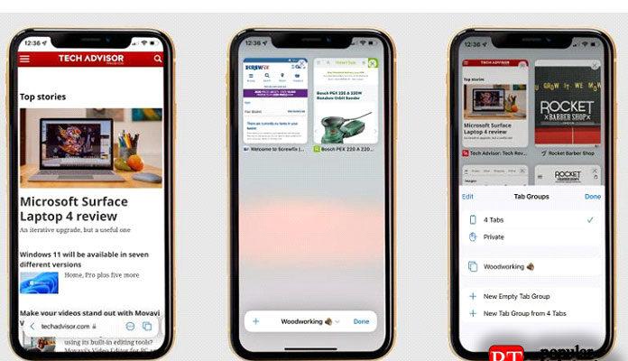 Как использовать обновленный браузер Safari в iOS 15