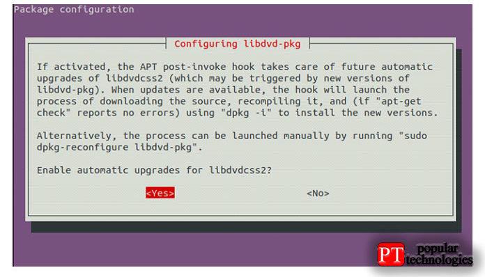 После этого онпопросит добавить автоматическое обновление пакетов lib