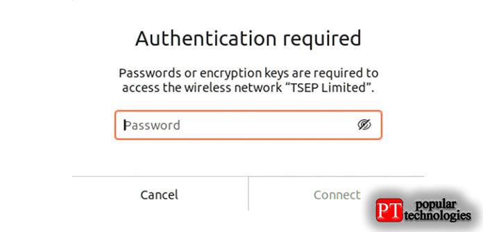 После того, как мывведем пароль, нажмите наопцию