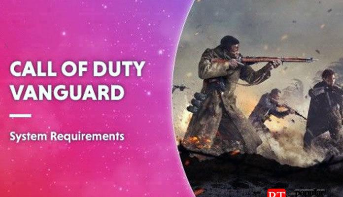 Системные требования Call Of Duty Vanguard