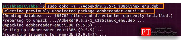 Теперь, наконец, после успешной загрузки Adobe Acrobat Reader