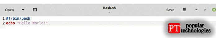 Вэтом сценарии Bash мыиспользовали команду «echo»