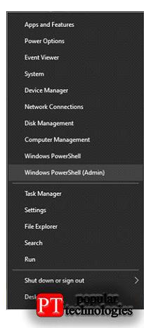 Вслучае Windows все команды будут выполняться вWindows PowerShell