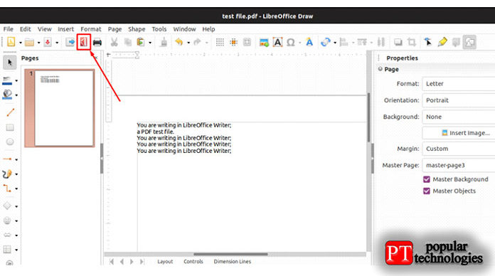 Запомните ключевую заметку, когда вывносите изменения вфайлы PDF