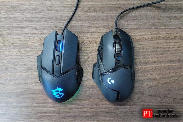 Поформе мышь похожа наLogitech G502, ноесть некоторые важные отличия