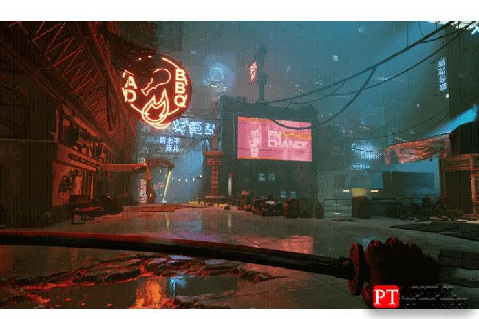 Сточки зрения геймплея Ghostrunner— это хардкорный