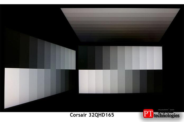 Углы обзора у32QHD165отличные, снебольшим уменьшением яркости2