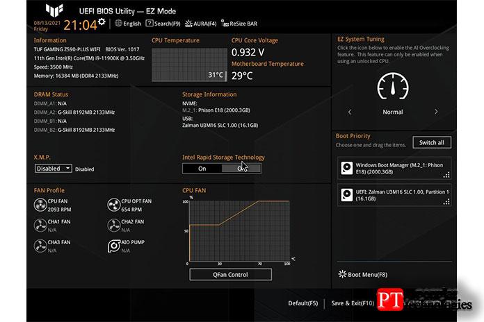 Вцелом, Asus предлагает удобный BIOS сдостаточным количеством опций